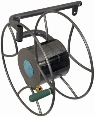 Swivel Wall-Mount Hose Reel, Holds 5/8-In. x 100-Ft. Hose