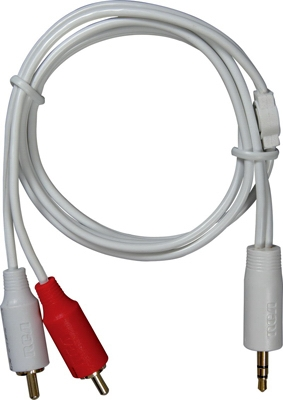 MP3 Stereo Adapter Cable, Y to RCA Plug, 3.5mm, 3-Ft.