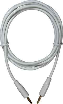 MP3 Audio Cable, White, 3.5mm, 6-Ft.