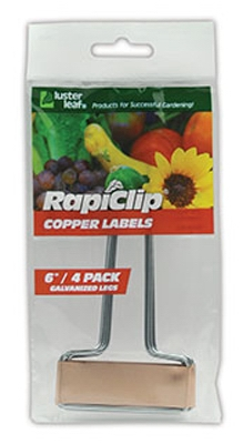 Copper Labels, 6-In., 4-Pk.
