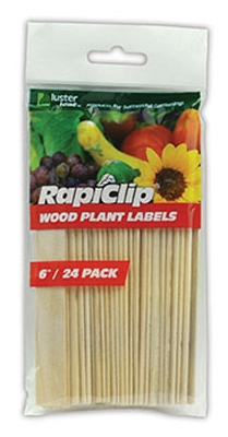 Wood Plant Labels, 6-In., 24-Pk.
