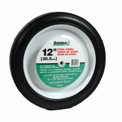 12-Inch Steel Universal Symmetrical Replacement Lawn Mower Wheel