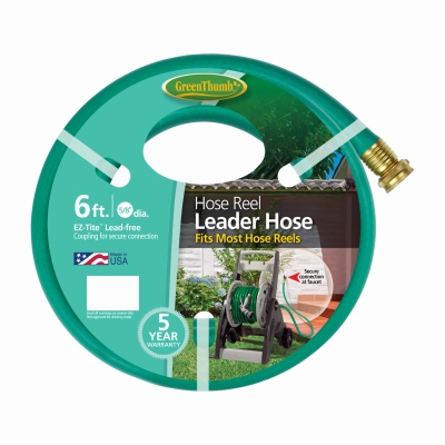 Hose Reel Leader Hose, 6-Ft.