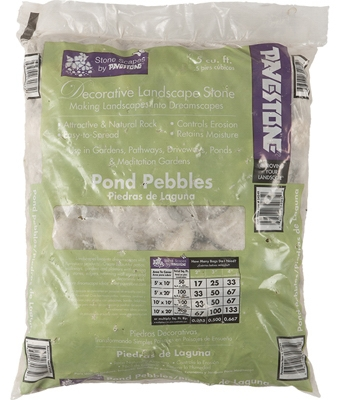 Decorative Landscape Pond Pebbles,  .5-Cu. Ft.
