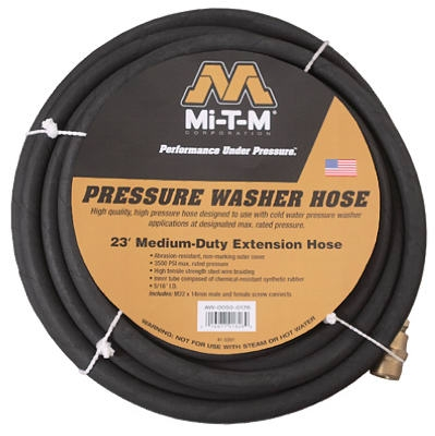 23-Ft. Wire Braided High Pressure Washer Extension Hose