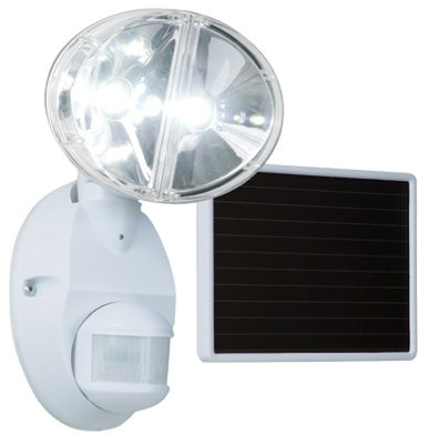 LED Solar Flood Light, Motion-Activated, White