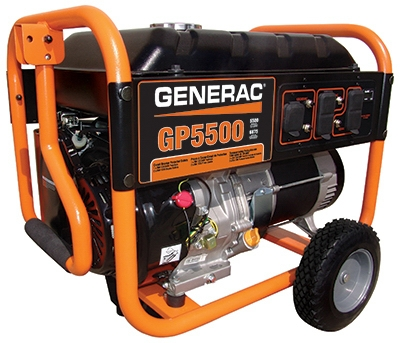 GP Series Portable Electric Generator With Wheel Kit, 5500/6875-Watt