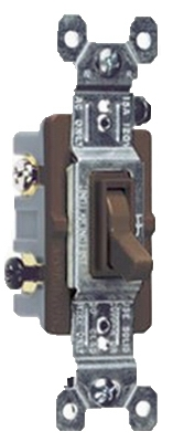 3-Way Toggle Switch, Brown, 120-Volt, 15-Amp