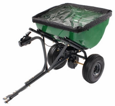 Capacity Tow Behind Broadcast Spreader, 100-Lb.