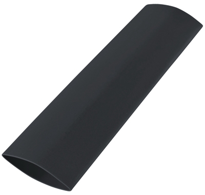 Heat Shrink Tubing, 1/2-1/4 x 4-In., Black, Must Purchase in Quantities of 5