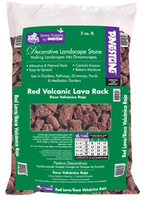 Decorative Landscape Red Lava Rock,  .5-Cu. Ft.