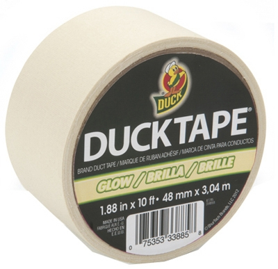 Duct Tape, Glow In The Dark, 1.88-In. x 10-Yds.