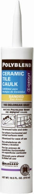 Polyblend Ceramic Tile Caulk, #165 Delorean Gray, 10.5-oz.