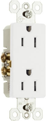 Decor Outlet 15A 125V White