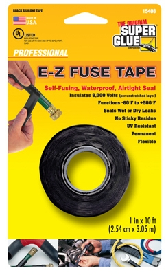Silicone Tape, Black, 1-In. x 10-Ft.