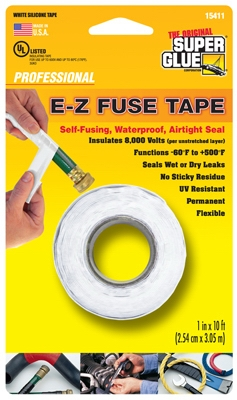 Silicone Tape, White, 1-In. x 10-Ft.