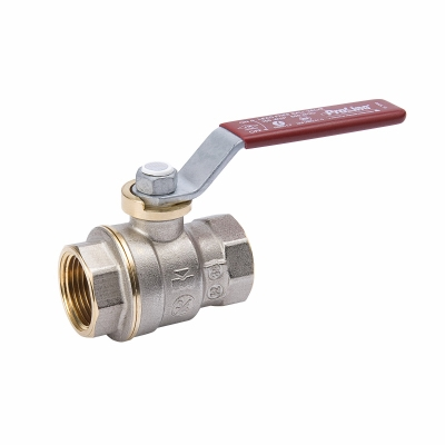 Threaded Ball Valve, Lead Free, Forged Brass, 1/8-In.