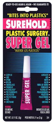 Super Glue Plastic Surgery Gel, 3-Gram
