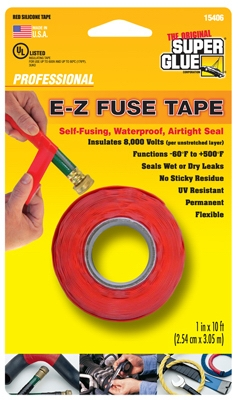 Silicone Tape, Red, 1-In. x 10-Ft.
