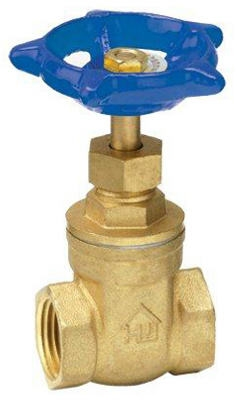 Threaded Gate Valve, Lead-Free Brass, 1/2-In.