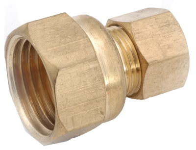 1/4-Inch Compression x 1/8-Inch Female Pipe Thread Brass Connector