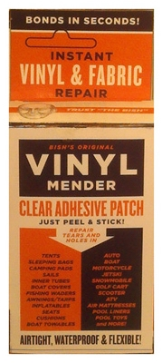 Vinyl & Fabric Tear Mender, Clear Adhesive Patches