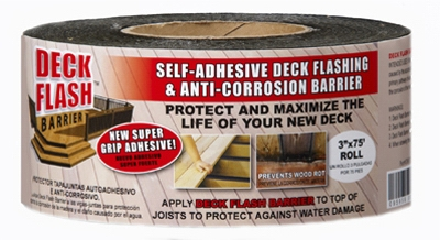 Deck Flash Barrier, 3-In. x 75-Ft.