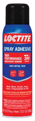 Spray Adhesive, High Performance, 13.5-oz.