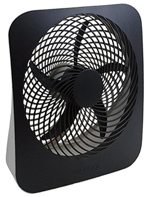 Portable Fan, Battery or Electric-Powered, 2-Speed, 10-In.