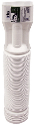 Downspout Extension, White, 19 - 55-In.