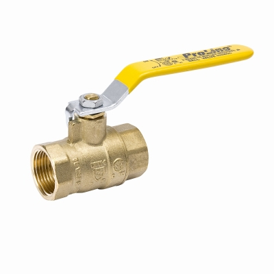 Full Port Ball Valve, Lead Free, Forged Brass, 2-In.