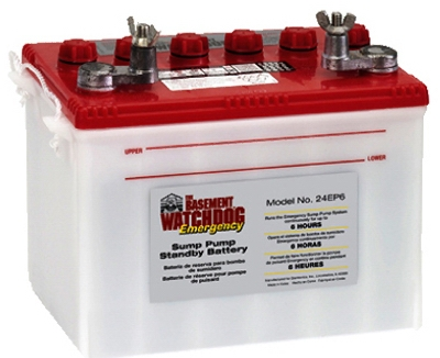 Sump Pump Emergency Battery for Basement Watchdog