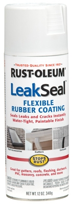 LeakSeal Spray Coating, White, 12-oz.