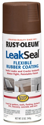 LeakSeal Spray Coating, Brown, 12-oz.