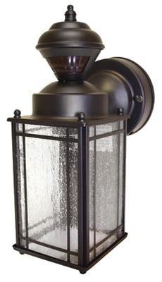 Shaker Cove Mission Light Fixture, Motion-Activated, Oil-Rubbed Bronze, 60-Watt