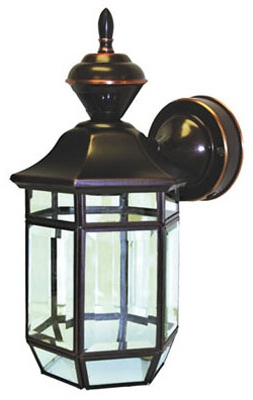 Lexington Light Fixture, DualBrite Motion-Activated, Antique Copper, 100-Watt