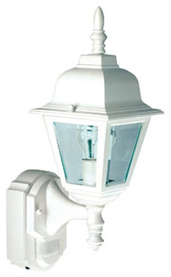 Country Cottage Light Fixture, DualBrite Motion-Activated, White, 100-Watt