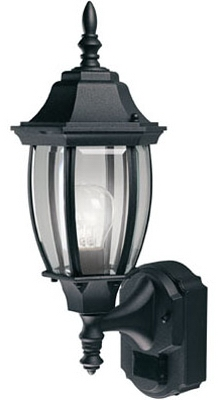 Alexandria Light Fixture, DualBrite Motion-Activated, Black, 100-Watt