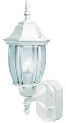 Alexandria Light Fixture, DualBrite Motion-Activated, White, 100-Watt
