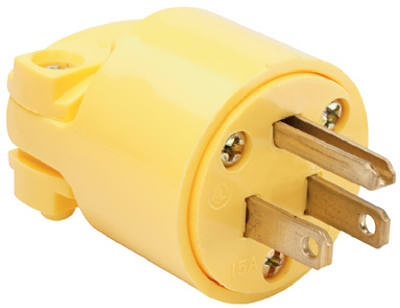 Yellow 15A Commercial Grade Plug