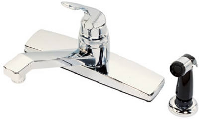 Chrome Single-Lever Kitchen Faucet with Sprayer