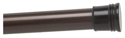 Shower Rod, Tension, Oil-Rubbed Bronze, 42 to 72-In.
