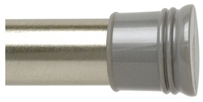 Shower Rod, Tension, Brushed Chrome, 42 to 72-In.