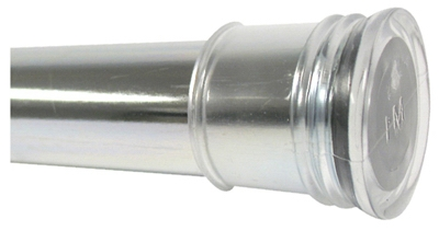 Shower Rod, Tension, Chrome, 42 to 72-In.