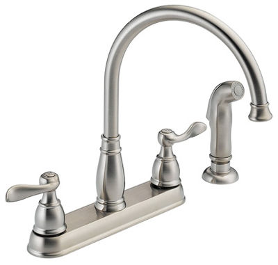 Windemere Stainless Steel 2-Handle Kitchen Faucet