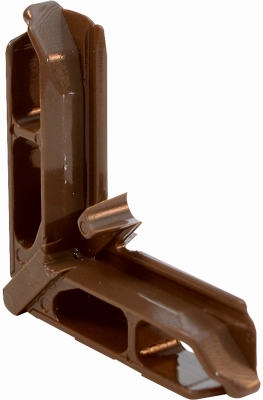 7/16 x 3/4-Inch Terratone Bronze Screen Frame Corners for Andersen Frames, 20-Pack