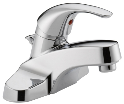 Bathroom Faucet, Chrome/Plastic Pop-Up, Single Handle