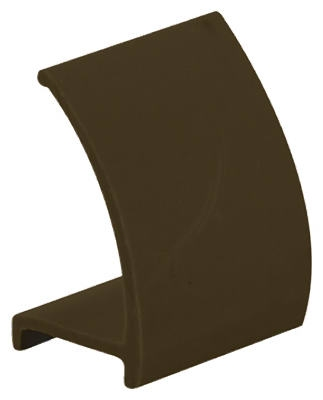 9/32 x 1/2 x 72-Inch Brown Snap-In Rigid Vinyl Glass Retainer