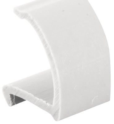 72-Inch White Snap-In Rigid Vinyl Glass Retainer