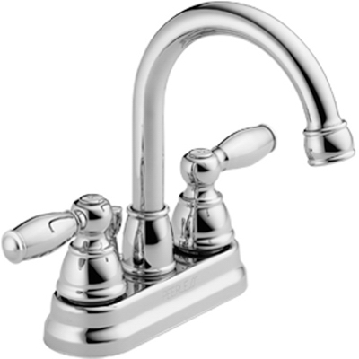 Bathroom Faucet, Hi Arc, Swivel Spout, Chrome Finish, 2-Lever Handles
